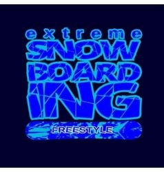 skateboarding t-shirt typography vector image