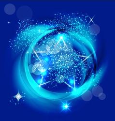 Star holidays vector image