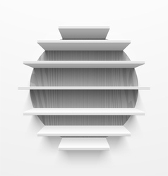Wall shelves vector image vector image