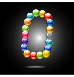 abstract shiny colored circles sign vector image vector image