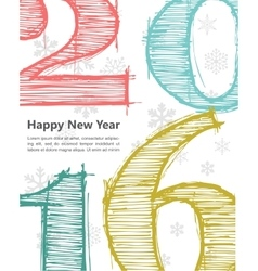 Happy new 2016 year Seasons Greetings vector image vector image