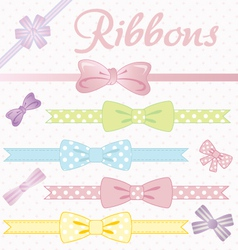 ribbons converted vector image vector image