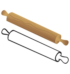 rolling pin for dough vector image