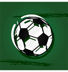 Stylized soccer ball vector image vector image