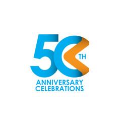 50 years anniversary celebrating template design vector