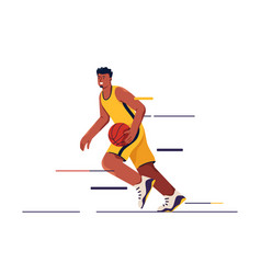 A basketball player in vector
