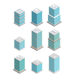 a of modern sate of the art office buildings vector image