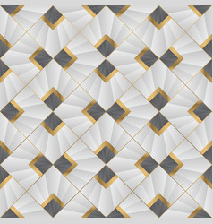 abstract art deco modern geometric tiles pattern vector image