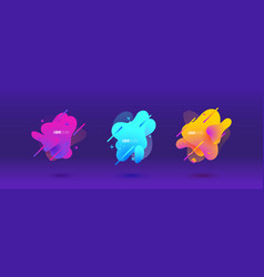 abstract design set of liquid shapes vector image