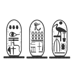 Ancient egyptian cartouche sketch vector