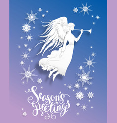 Angel greeting card vector