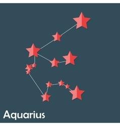 Aquarius Zodiac Sign of the Beautiful Bright Stars vector
