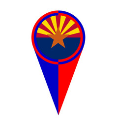 Arizona map pointer location flag vector
