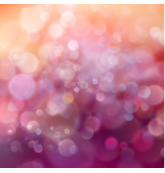 beautiful pink and orange magic glitter lights vector image
