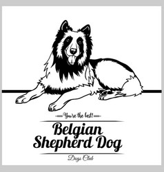 Belgian shepherd dog - for t vector