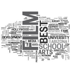 best film school in the us text word cloud concept vector image