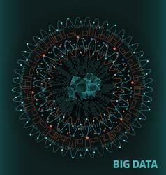 Big data visualization futuristic infographic vector