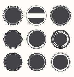 Blank round stamps for logo vector