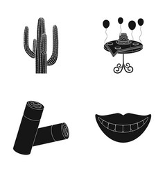 Cactus festive table and other web icon in black vector