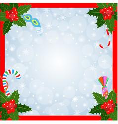 christmas card frame vector image
