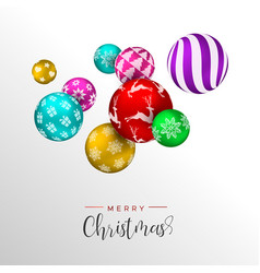 christmas colorful bauble ornament greeting card vector image