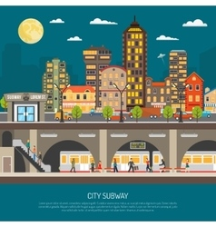 City Subway Poster vector