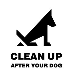 clean up after your dog stop pooping silhouette vector image
