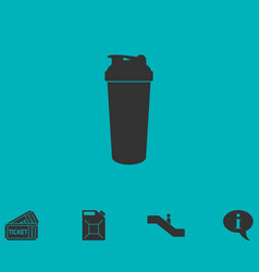 Cocktail shaker icon flat vector