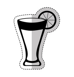 cocktail tropical isolated icon vector image