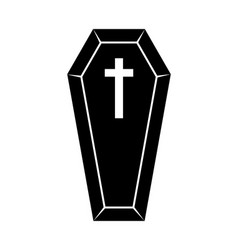 Coffin halloween icon isolated on white background vector