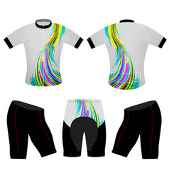 Colors lines on t-shirt vector