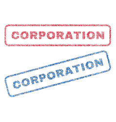 Corporation textile stamps vector