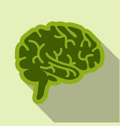 Drawing a human brain human medicine icons vector
