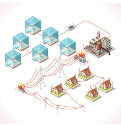 Energy 17 Infographic Isometric vector