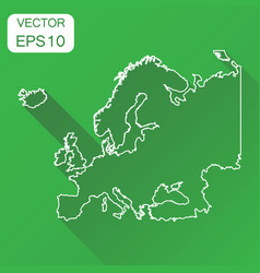 europe linear map icon business cartography vector image