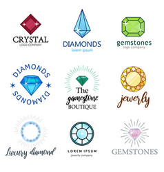 expensive jewelry diamonds of different shapes vector image