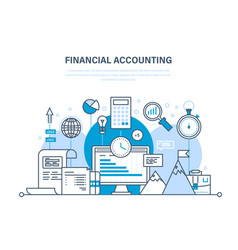 Financial accounting analysis market research vector