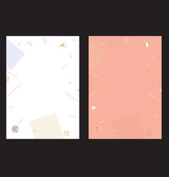 flat style abstract geometric design template for vector image