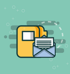 folder file organizer email message office vector image