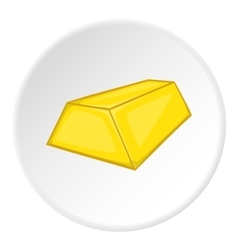 Gold ingot icon cartoon style vector
