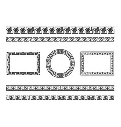 Greek frame borders ancient native roman vector