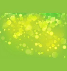 green abstract bokeh background colorful design vector image