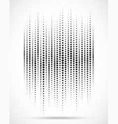 halftone gradient wave dots texture background vector image