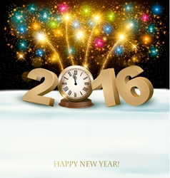 Happy New Year 2016 background with fireworks vector image vector image