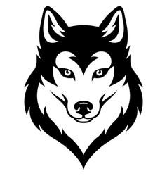 husky head emblem vector image
