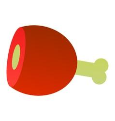 icon leg of ham vector image