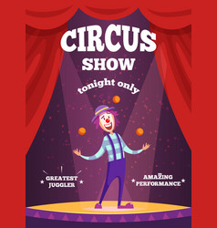 Invitation poster for circus show or magicians vector