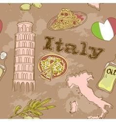 Italy travel grunge card vector