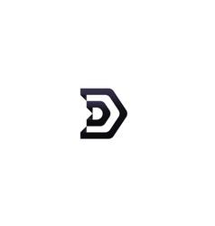 Letter d logo architecture door house template vector