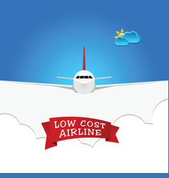 Low cost airline sign vector